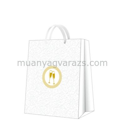 P.W.AGB3000705 Premium Wedding laces papír ajándéktáska large 26,5x33,5x13cm