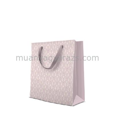 P.W.AGB1002003 Pastel Ornament rosa papír ajándéktáska medium,20x25x10cm