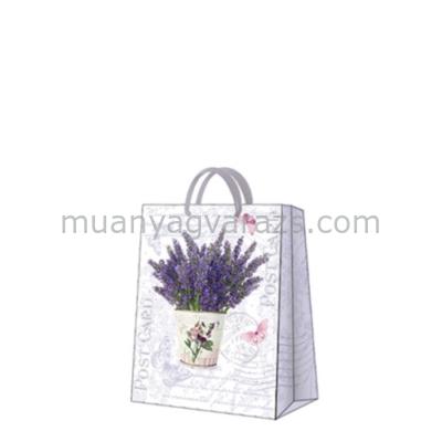 P.W.AGB1002303 Flowering Lavender papír ajándéktáska medium,20x25x10cm