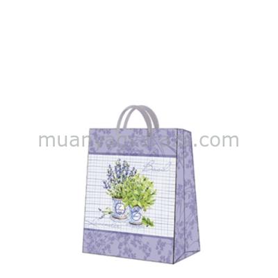 P.W.AGB1002403 Basil & Lavender papír ajándéktáska medium,20x25x10cm