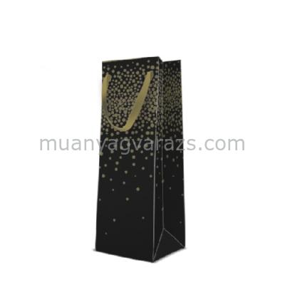 P.W.AGB1005704 Crazy Confetti papír ajándéktáska italos premium 12x37x10cm