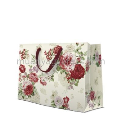 P.W.AGB1003606 Mysterious Roses papír ajándéktáska horizontal 33,5x26,5x13cm