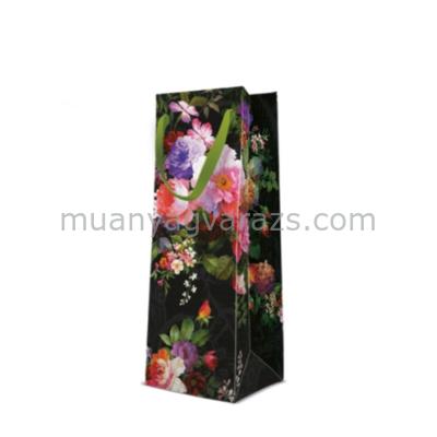 P.W.AGB1003704 Roses on Velvet papír ajándéktáska italos 12x37x10cm