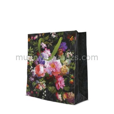P.W.AGB1003705 Roses on Velvet papír ajándéktáska large 26,5x33,5x13cm