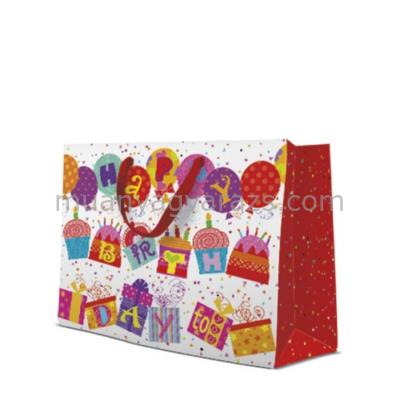 P.W.AGB1004206 Unusual Birthday papír ajándéktáska horizontal 33,5x26,5x13cm