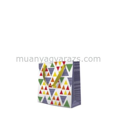 P.W.AGB1004510 Graphic triangles papír ajándéktáska CD-s 17x17x6cm