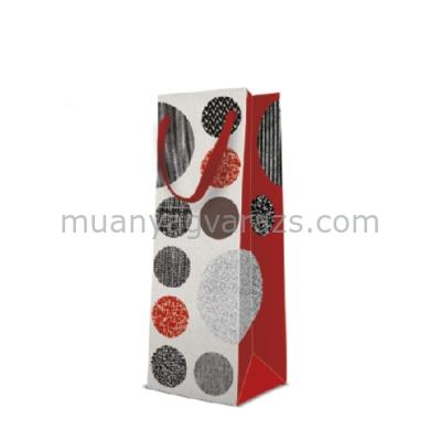 P.W.AGB1005204 Pattered Circles papír ajándéktáska italos 12x37x10cm