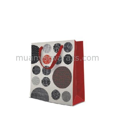 P.W.AGB1005203 Patterned Circles papír ajándéktáska medium 20x25x10cm