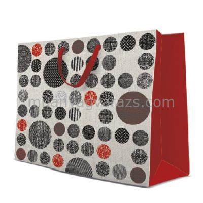P.W.AGB1005201 Patterned Circles papír ajándéktáska maxi 54x44x16cm