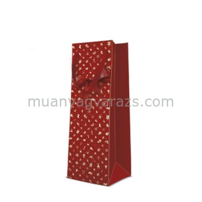 P.W.AGB2005204 Lovely Gift papír ajándéktáska italos 12x37x10cm
