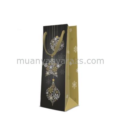 P.W.AGB2005404 Magic Stars papír ajándéktáska italos premium 12x37x10cm