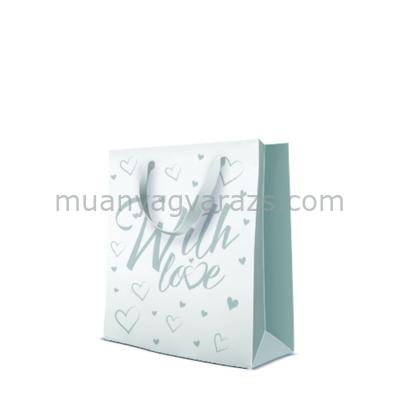 P.W.AGB3001603 Premium With Love papír ajándéktáska 20x25x10cm medium