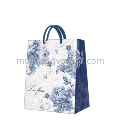 P.W.AGB017905 Linen roses papír ajándéktáska large 26,5x33,5x13cm