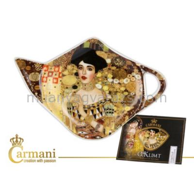 """H.C.532-1405 Porcelán teafilter tálka:"""" Klimt:Adele Bloch"""" 12,5x8cm"""