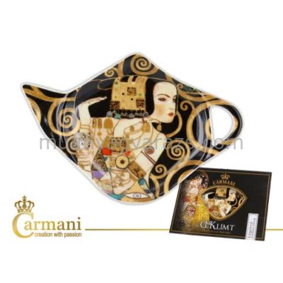 """H.C.532-1412 Porcelán teafilter tálka: """"Klimt: Várakozás"""" 12,5x8cm"""