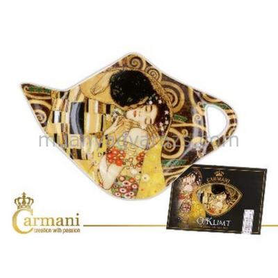 """H.C.532-1431 Porcelán teafilter tálka: """"Klimt:The Kiss"""" 12,5x8cm"""