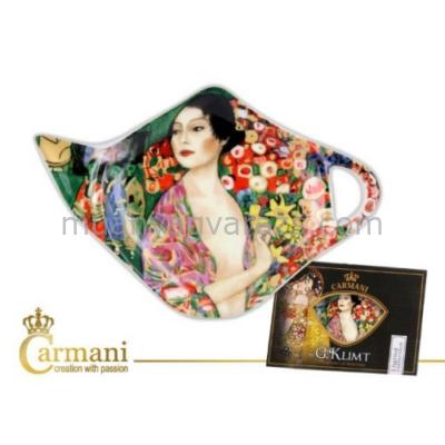 H.C.532-1417 Porcelán teafilter tálka,Klimt:A táncosnő 12,5x8cm