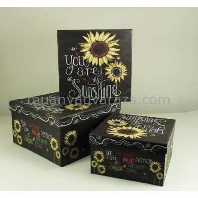 G.A.T.YF294-D100 Kartondoboz szett Sunshine S/3 26x26x14,5cm / 23x23x13cm / 20x20x11,5cm