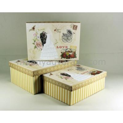 G.A.T.GD390-AT15070 Love kartondoboz szett S/3 31,5x23,5x13cm, 29,5x21,5x11,5cm, 28x20x10cm