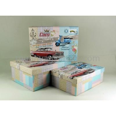 G.A.T.GD390-AT15072 Cars kartondoboz szett S/3 31,5x23,5x13cm, 29,5x21,5x11,5cm, 28x20x10cm