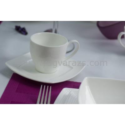 D.G.14474-BETA Porcelán csésze + alj, 2 személyes, dobozban, 200ml, Beta