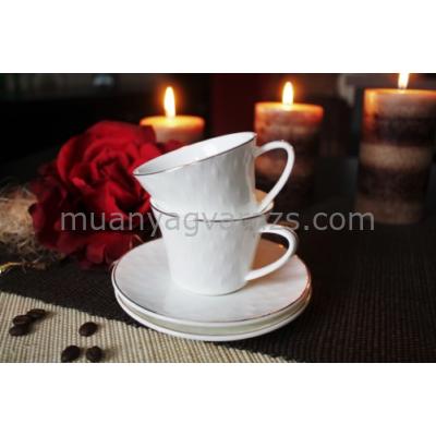 D.G.Y2-2FS90-RODOS Porcelán teáscsésze+alj,2 személyes dobozban,90ml,Rodos