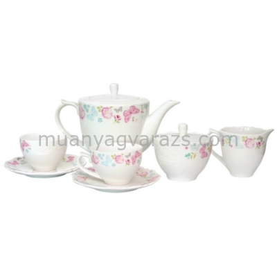 V.B.11916 Triss porcelán teáskészlet,6 személyes,15 részes,200ml,dobozban