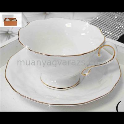 V.B.13958 Sofi porcelán csésze+alj 200ml,2 személyes, dobozban