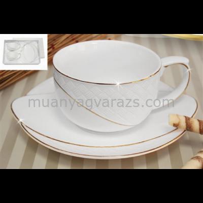 V.B.14351 La Pure porcelán csésze+alj 200ml,2 személyes, dobozban