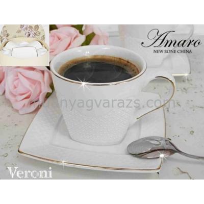V.B.14825 Amaro porcelán csésze+alj,220ml,2 személyes,dobozban