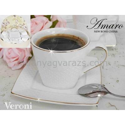 V.B.14832 Amaro porcelán csésze+alj 220ml,6 személyes,dobozban