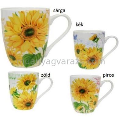 V.B.14078 Sunflower porcelán bögre 350ml