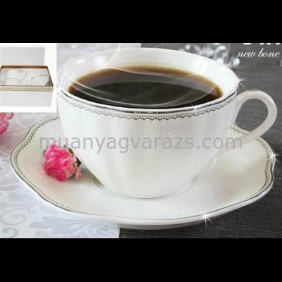 V.B.15495 Calla porcelán csésze+alj 220ml,2 személyes, dobozban