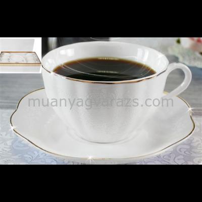 V.B.15563 Polly porcelán csésze+alj 220ml,6 személyes, dobozban