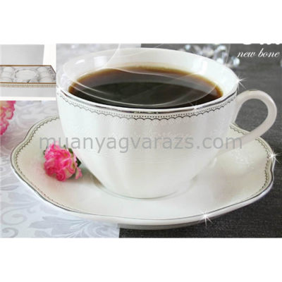 V.B.15501 Calla porcelán csésze+alj 220ml,6 személyes, dobozban