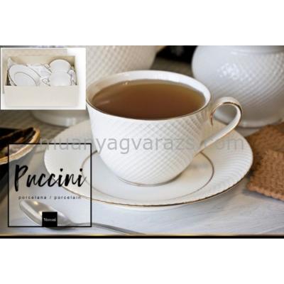 V.B.08831 Puccini porcelán csésze+alj,250ml,2 személyes,dobozban