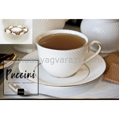 V.B.08848 Puccini porcelán csésze+alj ,250ml,6 személyes,dobozban