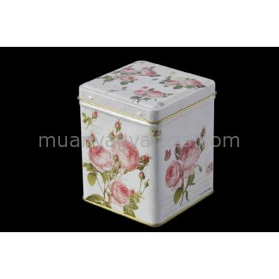 T.B.RMR513 Fémdoboz 60x60x80mm, 50g, Romantic Roses