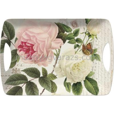 C.T.5138322 Műanyag tálca 472x327mm,Rose Garden