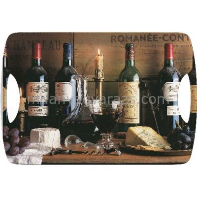 C.T.5169683 Műanyag tálca 472x327mm,Vintage Wine