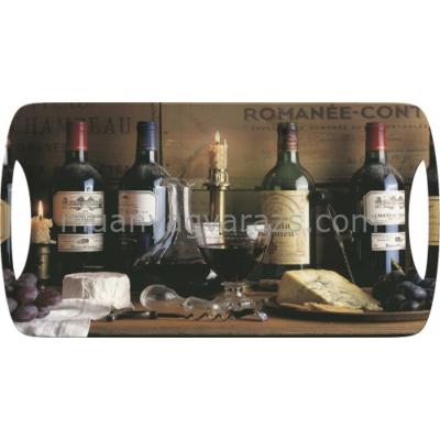 C.T.5169684 Műanyag szendvicstálca 385x200mm,Vintage Wine