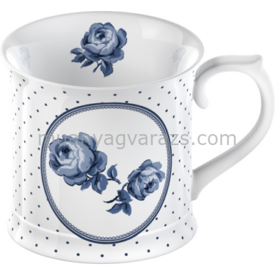 C.T.5176067 Porcelán bögre 400ml,Floral Spot,Vintage Indigo