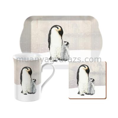 C.T.5187251 Time for Tea szett (tálca,bögre 350ml,parafa poháralátét),Emperor Penguin
