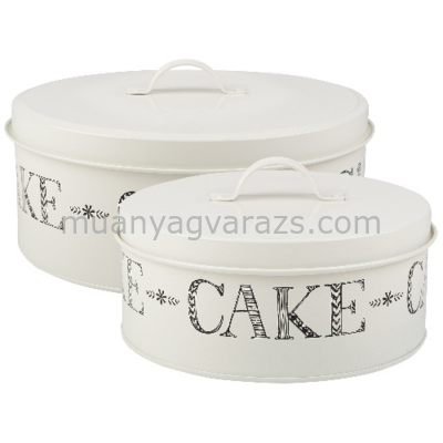 C.T.5199917 Fémdoboz szett S/2,260x120mm/190x190mm,Cake,Stir it Up
