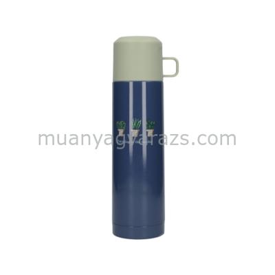 C.T.5213712 Rozsdamentes acél flaska műanyag pohártetővel,500ml,Bulb Bloom