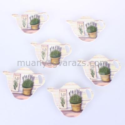D.MEC-L1 Teafiltertartó szett S/6 cserepes levendulás, műanyag