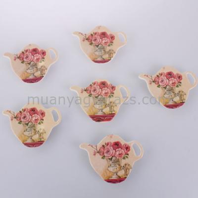D.MEC-R2 Teafiltertartó (szett 6db-os) rózsaszín rózsás, műanyag