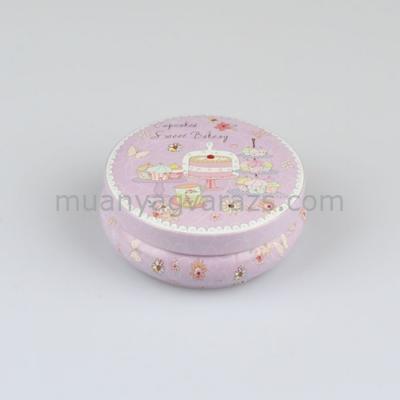 D.DKKOV16019 Fémdoboz Cupcakes, 8,5x3,5cm