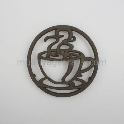 D.LS088 Öntöttvas edényalátét csészés D18cm