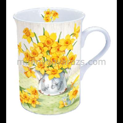 AMB.18608565 Narcissus porcelán bögre dobozban 0,25l